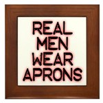 Real Men Framed Tile
