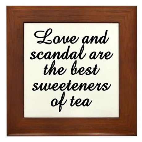 Love And Scandal Framed Tile