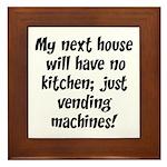 Kitchen Vending Machines Framed Tile