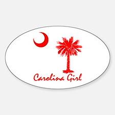 Carolina Girl Oval Decal