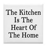 Kitchen Heart Home Tile Coaster