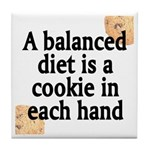 Cookie Balanced Diet Tile Coaster
