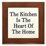 Kitchen Heart Home Framed Tile