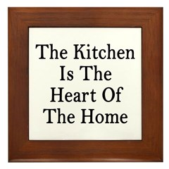 Kitchen Heart Home Framed Tile