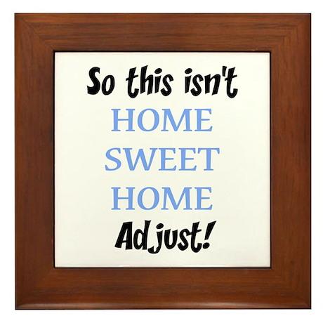 Home Sweet Home Framed Tile