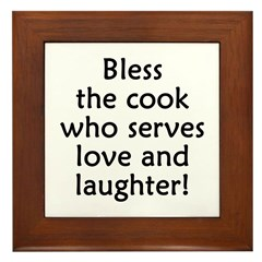 Love And Laughter Framed Tile