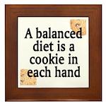 Cookie Balanced Diet Framed Tile