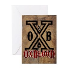 OxBlooD Society X Leather Greeting Card
