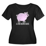 A Pig Says Oink Women's Plus Size Scoop Neck Dark
