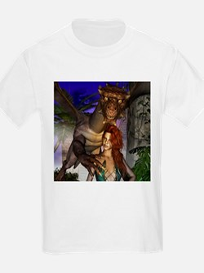 Amazing dragon and elf T-Shirt