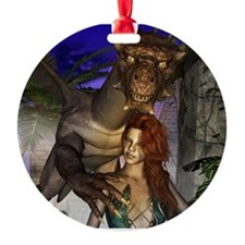 Amazing dragon and elf Ornament