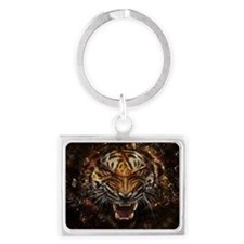 Angry Tiger Landscape Keychain