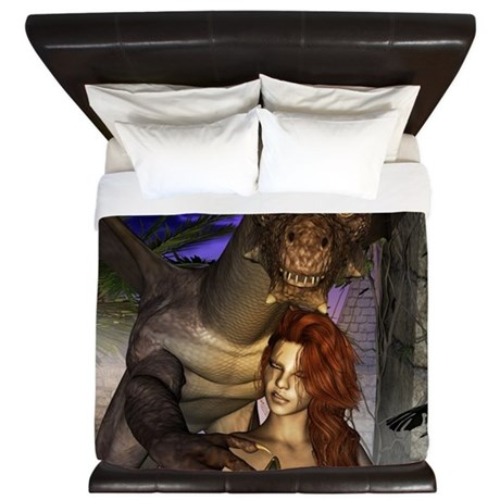 Amazing Dragon And Elf King Duvet