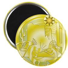 Kokopelli Cactus Gold #2 Magnet