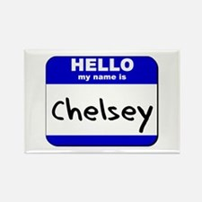 hello my name is chelsey Rectangle Magnet