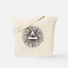 Illuminati Pyramid Eye Tote Bag
