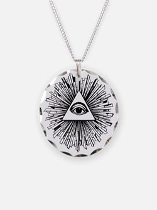 Illuminati Pyramid Eye Necklace
