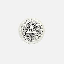 Illuminati Pyramid Eye Mini Button