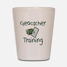 in training Shot Glass