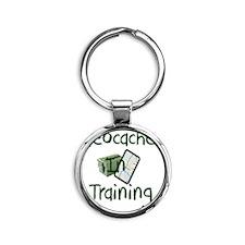 in training Round Keychain