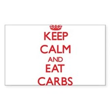 Keep calm and eat Carbs Decal