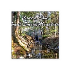 "Great Smoky Mountains Calen Square Sticker 3"" x 3"""