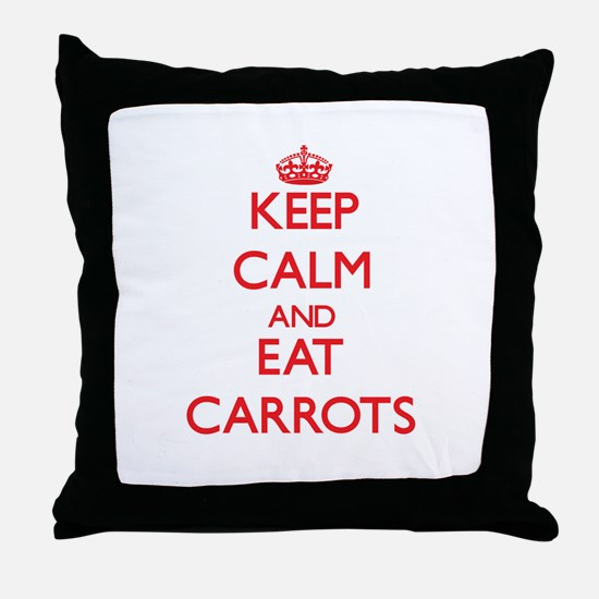 Keep calm and eat Carrots Throw Pillow