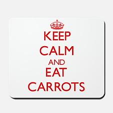 Keep calm and eat Carrots Mousepad