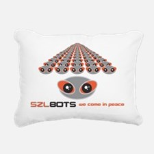 SZLBOTS, we come in peac Rectangular Canvas Pillow