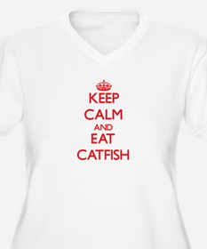 Keep calm and eat Catfish Plus Size T-Shirt