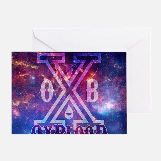 OxBlooD Galaxy X Design Greeting Card