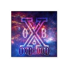 "OxBlooD Galaxy X Design Square Sticker 3"" x 3"""