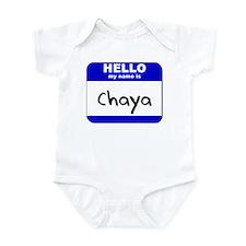 hello my name is chaya  Infant Bodysuit