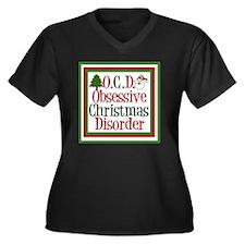 ocdchristmas Women's Plus Size V-Neck Dark T-Shirt