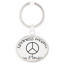 kindnessmatters Oval Keychain
