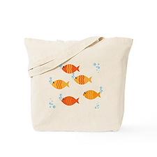 Five Orange Fish Tote Bag