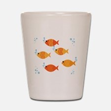 Five Orange Fish Shot Glass