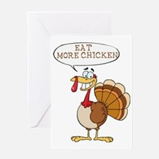 Funny Turkey Design Greeting Card