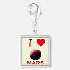 Mars Silver Square Charm