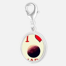 Mars Silver Oval Charm