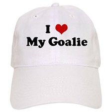 I Love My Goalie Baseball Cap