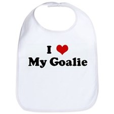 I Love My Goalie Bib