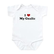 I Love My Goalie Infant Bodysuit