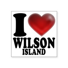 "I Heart Wilson Island Square Sticker 3"" x 3"""