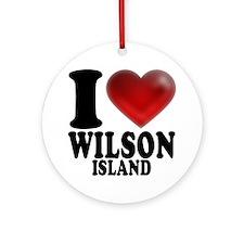 I Heart Wilson Island Round Ornament