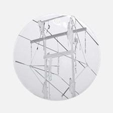 5 Climbers White Decal for Dark Col Round Ornament