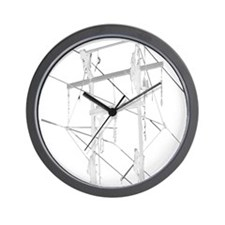 5 Climbers White Decal for Dark Colored Wall Clock