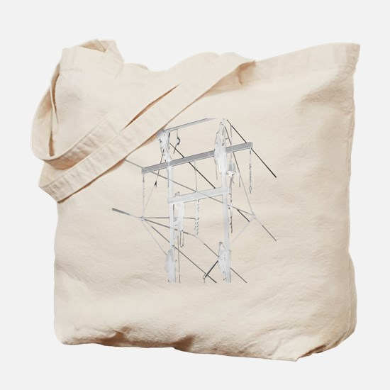5 Climbers White Decal for Dark Colored I Tote Bag