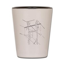 5 Climbers White Decal for Dark Colored Shot Glass
