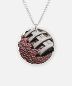 Football  2 Necklace Circle Charm
